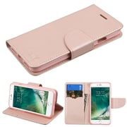 Insten Luxury Wallet Leather Stand Case Cover with Card Slots For iPhone 7 - Rose Gold