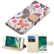 Insten Butterfly Wonderland Insten Luxury Wallet Leather Stand Case Cover with Card Slots For iPhone 7
