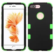 Insten Tuff 3-Piece Style Shockproof SoFT TPU Hard Hybrid Cover Case For iPhone 7 Plus - Black/Green