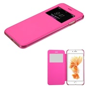 Insten Ultra Slim Fit Leather Case Cover with Window For Apple iPhone 7 Plus - Hot Pink