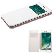 Insten Ultra Slim Fit Leather Case Cover with Window For Apple iPhone 7 - White