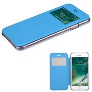 Insten Ultra Slim Fit Leather Case Cover with Window For Apple iPhone 7 - Blue