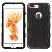 Insten Carbon Fiber/Black TUFF Hybrid Dual Layer Phone Case Cover for Apple iPhone 7 Plus