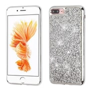 Insten Silver Mini Crystals Rhinestones Desire Hard Case Candy Skin Cover (Silver Frame) for Apple iPhone 7 Plus