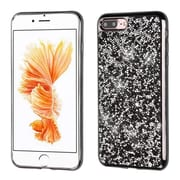Insten Black Mini Crystals Rhinestones Desire Hard Case Candy Skin Cover (Black Frame) for Apple iPhone 7 Plus