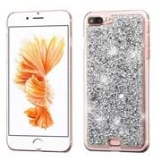 Insten Silver Mini Crystals Rhinestones Desire Hard Case Back Cover for Apple iPhone 7 Plus