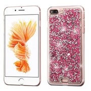 Insten Hot Pink Mini Crystals Rhinestones Desire Hard Case Back Cover for Apple iPhone 7 Plus