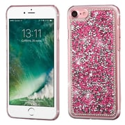 Insten Hot Pink Mini Crystals Rhinestones Desire Hard Case Back Cover for Apple iPhone 7
