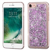 Insten Light Purple Mini Crystals Rhinestones Desire Hard Case Back Cover for Apple iPhone 7