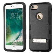 Insten Tuff 3-Piece Style Shockproof SoFT TPU Hard Hybrid Cover Case For iPhone 7 - Black