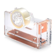 "Insten Desktop Mini Acrylic Tape Dispenser with Tape (1"" Core) - Clear/Rose Gold"