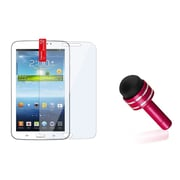 "Insten Dust Cap Stylus Red+Clear Screen Protector For Samsung Galaxy Tab 3 7.0 7"" P3200"