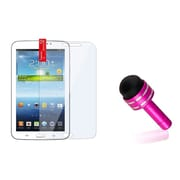 "Insten Dust Cap Stylus Pink+Clear Screen Protector For Samsung Galaxy Tab 3 7.0 7"" P3200"