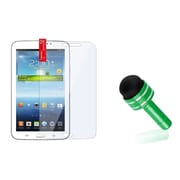 "Insten Dust Cap Stylus Green+Clear Screen Protector For Samsung Galaxy Tab 3 7.0 7"" P3200"