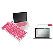"Insten Clear Screen Protector+Light Pink Keyboard Shield for Macbook Pro 13"" Retina A1425 A1502"