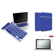 "Insten Clear Screen Protector + Blue Keyboard Cover + Sleeve Bag for Macbook Pro 13"" with Retina Display A1425 A1502"