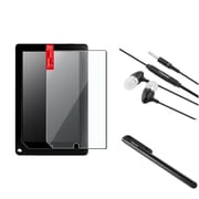 Insten LCD Protector+Blk Stylus For Barnes & Noble Nook HD+9 inch Tablet+Black Headset