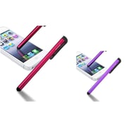 Insten Red/Purple Touch LCD Pen Stylus for Samsung Galaxy S3 i9300 S4 i9500 S5 Note 4 3 N9100 Note 4 N9100 HTC One M8