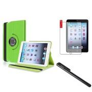 Insten Green Multi Viewing Leather Case+Film+Stylus For Apple iPad Mini 3 2 1 (Auto Sleep/Wake)