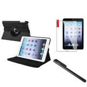 Insten Retina Display 360 Degree Rotating PU Leather Case Cover w Swivel Stand For iPad Mini 3 / 2 / 1 - Black