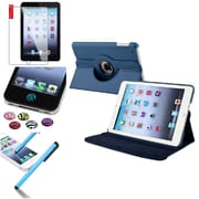 Insten 360 Degree Rotating Leather Case Cover Stand for Apple iPad Mini 3 2 1+Sticker Navy Blue