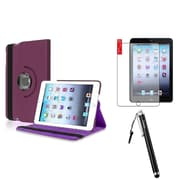 Insten Purple Retina Display 360 Degree Rotating PU Leather Case Stand for Apple iPad Mini 3 2