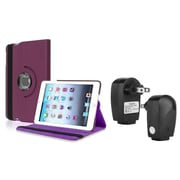 Insten Purple PU Leather Case Smart Cover Stand+TC For Apple iPad Mini 3rd 3 2nd 1 1st Gen