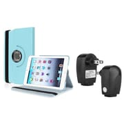 Insten Light Blue PU Leather Case Smart Cover Stand+TC For Apple iPad Mini 3rd 3 2nd 1 1st Gen