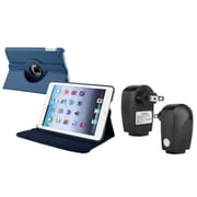 Insten Navy Blue Leather Case Smart Cover Stand+TC For Apple iPad Mini 3rd 3 2nd 1 1st Gen