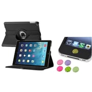 Insten 360 Black Rotating Stand Leather Case Cover+Sticker For Apple iPad Air 5 5th Gen