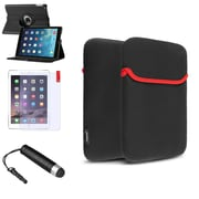 Insten 360 Black Rotating Leather Case Cover+Stylus/Protector For Apple iPad Air 5 5th Gen