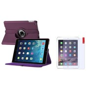Insten Purple 360 Rotating Leather Case Cover+Matte Guard For Apple iPad Air 5 5th Gen