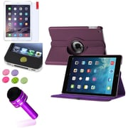 Insten Purple 360 Rotating Leather Case Cover+Pen/Sticker For Apple iPad Air 5 5th Gen