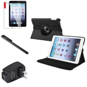 Insten 360 Black Rotate Leather Case Cover+SP Pen for iPad Mini 3 2 1