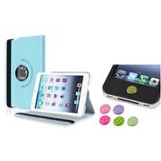 Insten Light Blue 360 Leather Case Cover+Sticker for iPad Mini 3 2 1