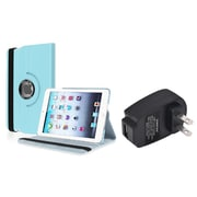 Insten Light Blue 360 Stand Leather Case Cover for Apple iPad Mini 3 2 1