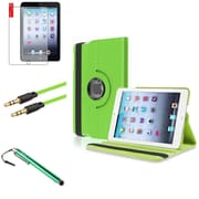 Insten Green 360 Leather Case Cover+Matte Protector+Cable for iPad Mini 3 2 1