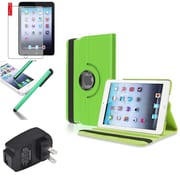 Insten Green 360 Leather Case Cover+Matte Protector/Stylus/for iPad Mini 3 2 1