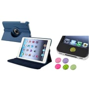 Insten Navy Blue 360 PU Leather Case Cover+Sticker for iPad Mini 3 2 1