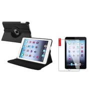 Insten Black Case Rotating Leather Case Cover+2pcs Protector for Apple iPad Mini 1 2 3