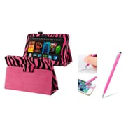 "Insten Hot Pink Zebra Leather Case Stand w/ Sleep Mode + Stylus with Ballpoint Pen For Amazon Kindle Fire HD 7"" 2012"