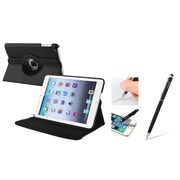 Insten Black Leather Case w/ Sleep Mode + 2in1 Stylus For iPad Mini 3 2 1