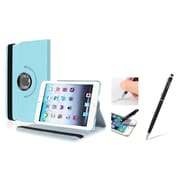 Insten Light Blue Leather Case w/ Sleep Mode + Black Stylus For iPad Mini 3 2 1