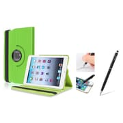 Insten Green Leather Case w/ Sleep Mode + Black 2in1 Stylus For iPad Mini 3 2 1