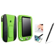 Insten Green/Black Leather Stand Case Cover + Black 2in1 Stylus with Ballpoint Pen For LeapFrog LeapPad Ultra/Ultra Xdi