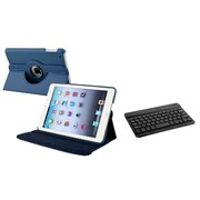 Insten Navy Blue Flip Leather Multi Angle View Stand Case+Bluetooth Keyboard For Apple iPad Mini 1 2 3 Gen
