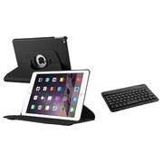 Insten 360 Swivel Black Leather Flip Folio Case+Bluetooth Keyboard For Apple iPad Air 2 2nd