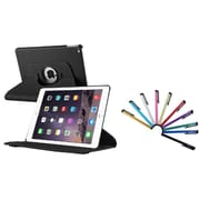 Insten 360 Degree Black Rotating Leather Case For Apple iPad Air 2 (iPad 6) (with 10-Piece Stylus)