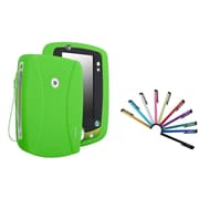 Insten Silicone Skin Case For Leapfrog LeapPad 2, Green (with 10-Piece Stylus)