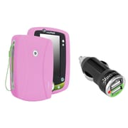 Insten Silicone Skin Case For Leapfrog LeapPad 2, Baby Pink (with 2-Port USB Car Charger Adapter)